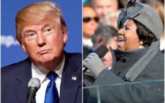 Trump, Aretha Franklin