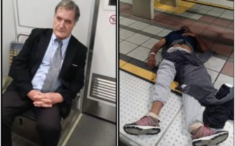 Long Beach, unresponsive passenger, Train, Suited man, White man