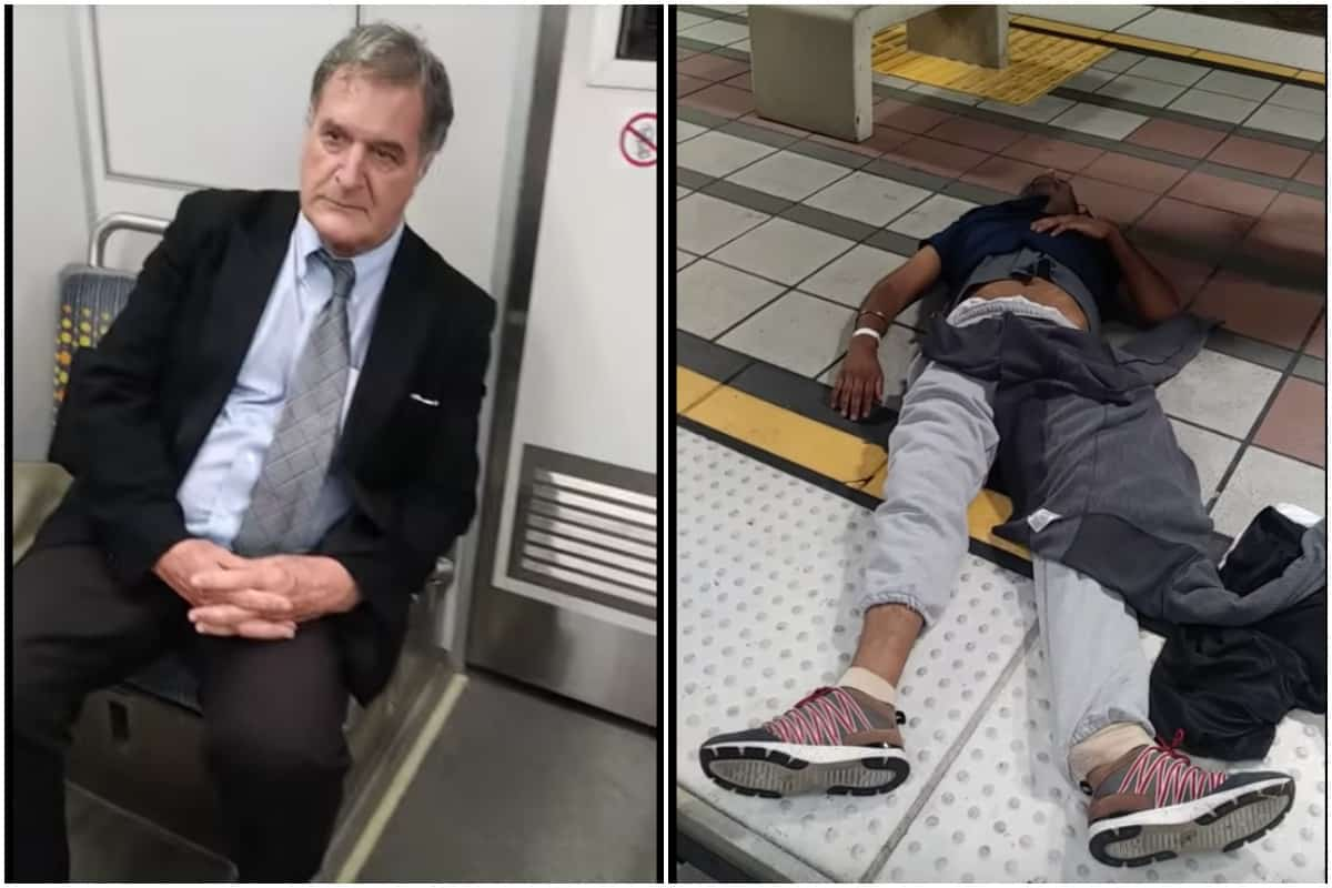 Suited Man Drags Unconscious Passenger Out of Train so He Can Go Home (VIDEO) • EBONY