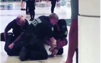 White man, arrested, police