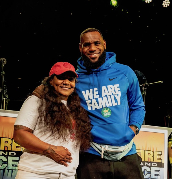 b008839f2fa3 On Tuesday, the LeBron James Family Foundation hosted at-risk youth of the  I Promise program and their families at Cedar Point, an amusement park in  ...