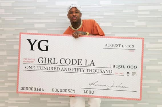 YG Supports Young Women in STEM With $150K Donation to Girl Code LA
