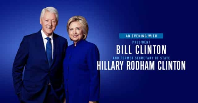 Bill and Hillary Clinton Are Going on a 13-City Tour