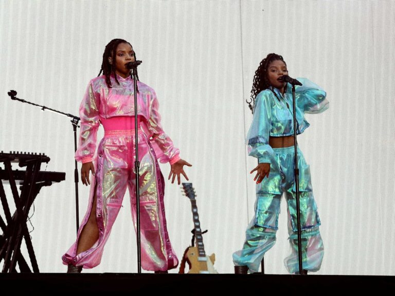 CLEVELAND - JULY 25: Chloe x Halle perform on the 'On The Run II' tour at First Energy Stadium on July 25, 2018 in Cleveland, Ohio. (Photo by Andrew White/Parkwood/PictureGroup)