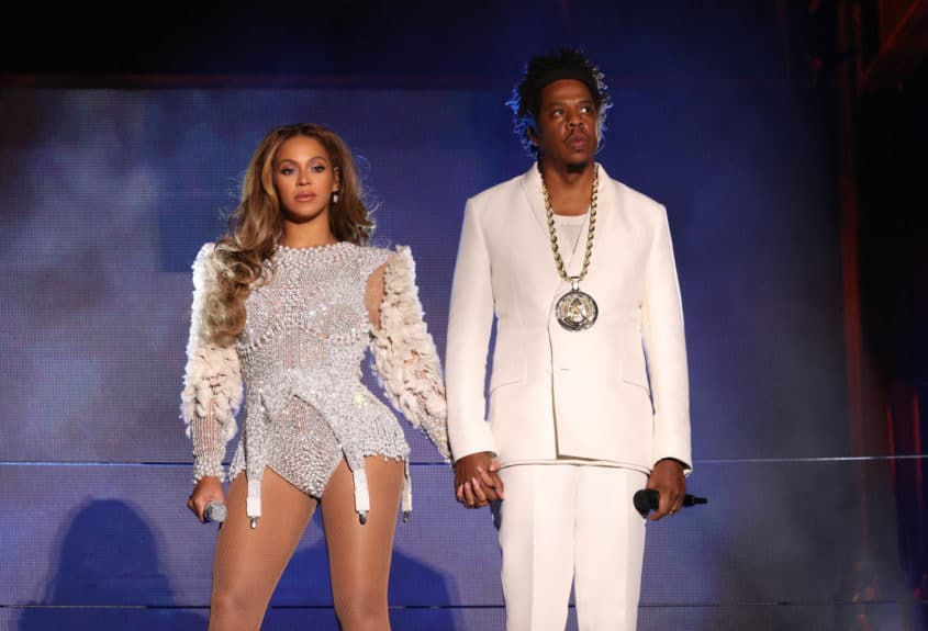 SANTA CLARA, CA - SEPTEMBER 29: Beyonce and Jay-Z perform on the 'On The Run II' tour at Levi's Stadium on September 29, 2018 in Santa Clara, California. (Photo by Raven Varona/Parkwood/PictureGroup)