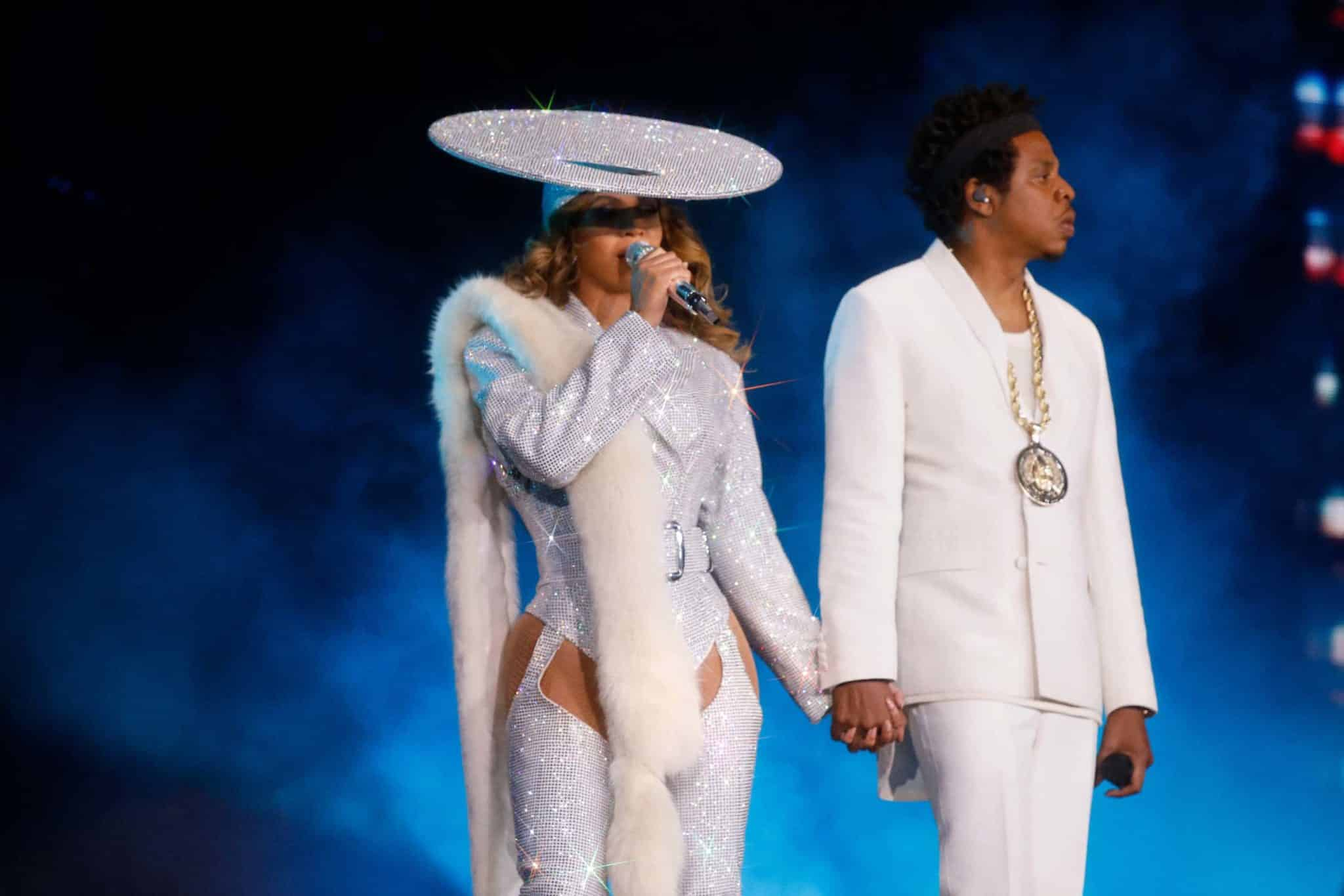 VANCOUVER - OCTOBER 2: Beyonce and Jay-Z perform on the 'On The Run II' tour at BC Place on October 2, 2018 in Vancouver, Canada. (Photo by Raven Varona/Parkwood/PictureGroup)