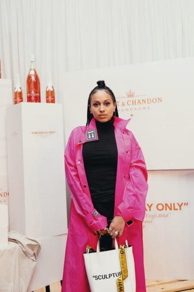 Venus X at the launch of Moët & Chandon Nectar Impérial Rosé c/o Virgil Abloh™ in New York City (Photo Credit: Kenneth L. Dixon)