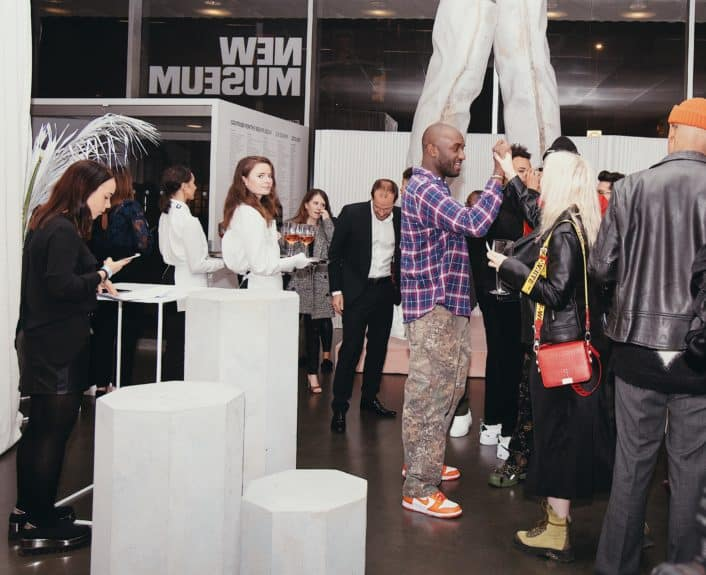 Virgil Abloh at the launch of Moët & Chandon Nectar Impérial Rosé c/o Virgil Abloh™ in New York City (Photo Credit: Kenneth L. Dixon)