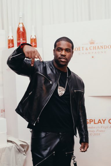 A$AP Ferg during cocktail hour for the launch of Moët & Chandon Nectar Impérial Rosé c/o Virgil Abloh™ in New York City (Photo Credit: Kenneth L. Dixon)