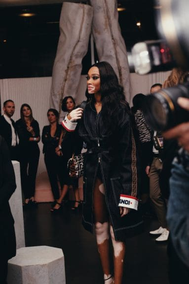 Winnie Harlow at the launch of Moët & Chandon Nectar Impérial Rosé c/o Virgil Abloh™ in New York City (Photo Credit: Kenneth L. Dixon)
