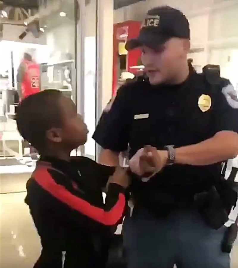 white georgia cop, black boy, excessive force