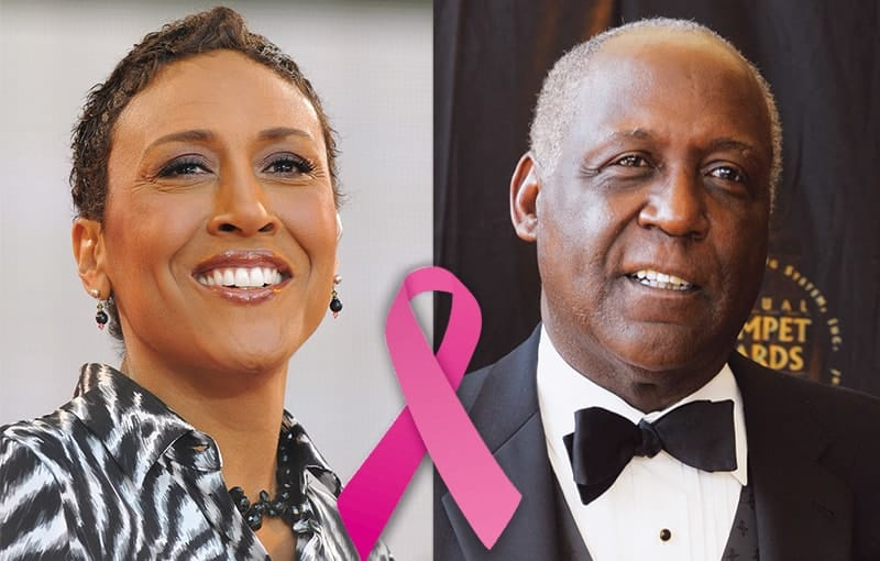 Robin Roberts, Richard Roundtree, Breast Cancer Survivors