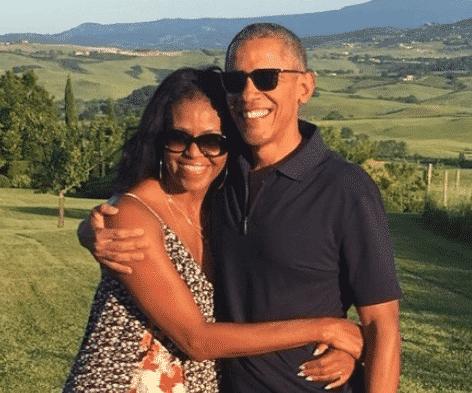 Michelle, Barack,