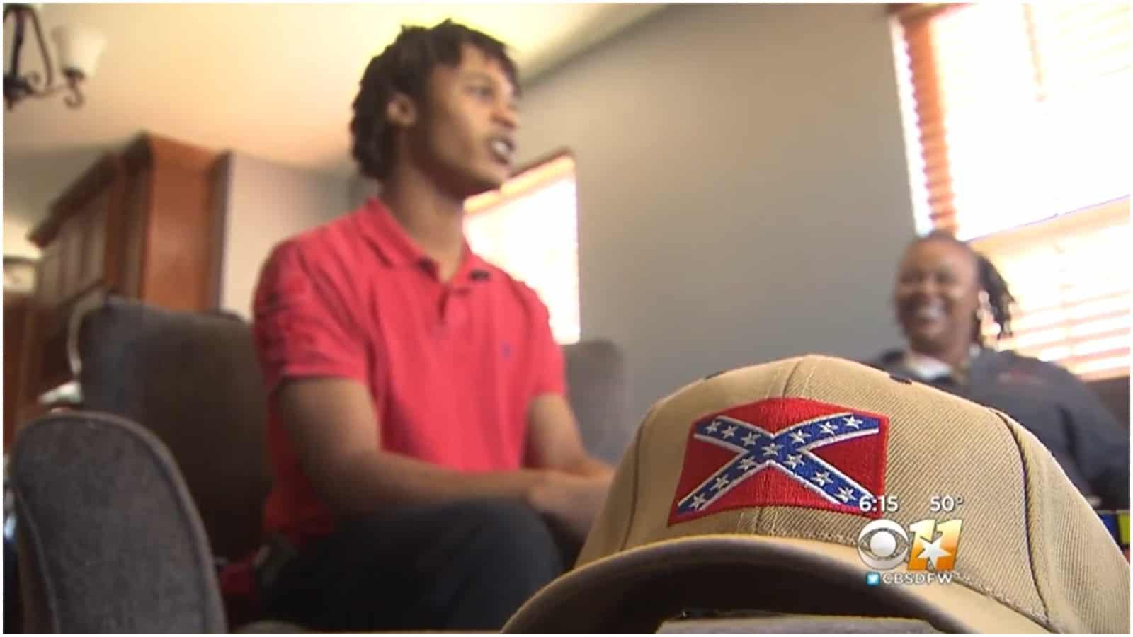 confederate flag, student, autism, Texas