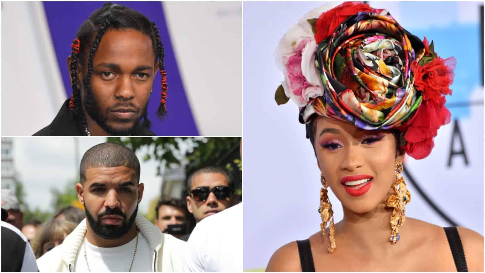 Kendrick Lamar, Drake, Cardi B Leads 2018 Grammy Nominations