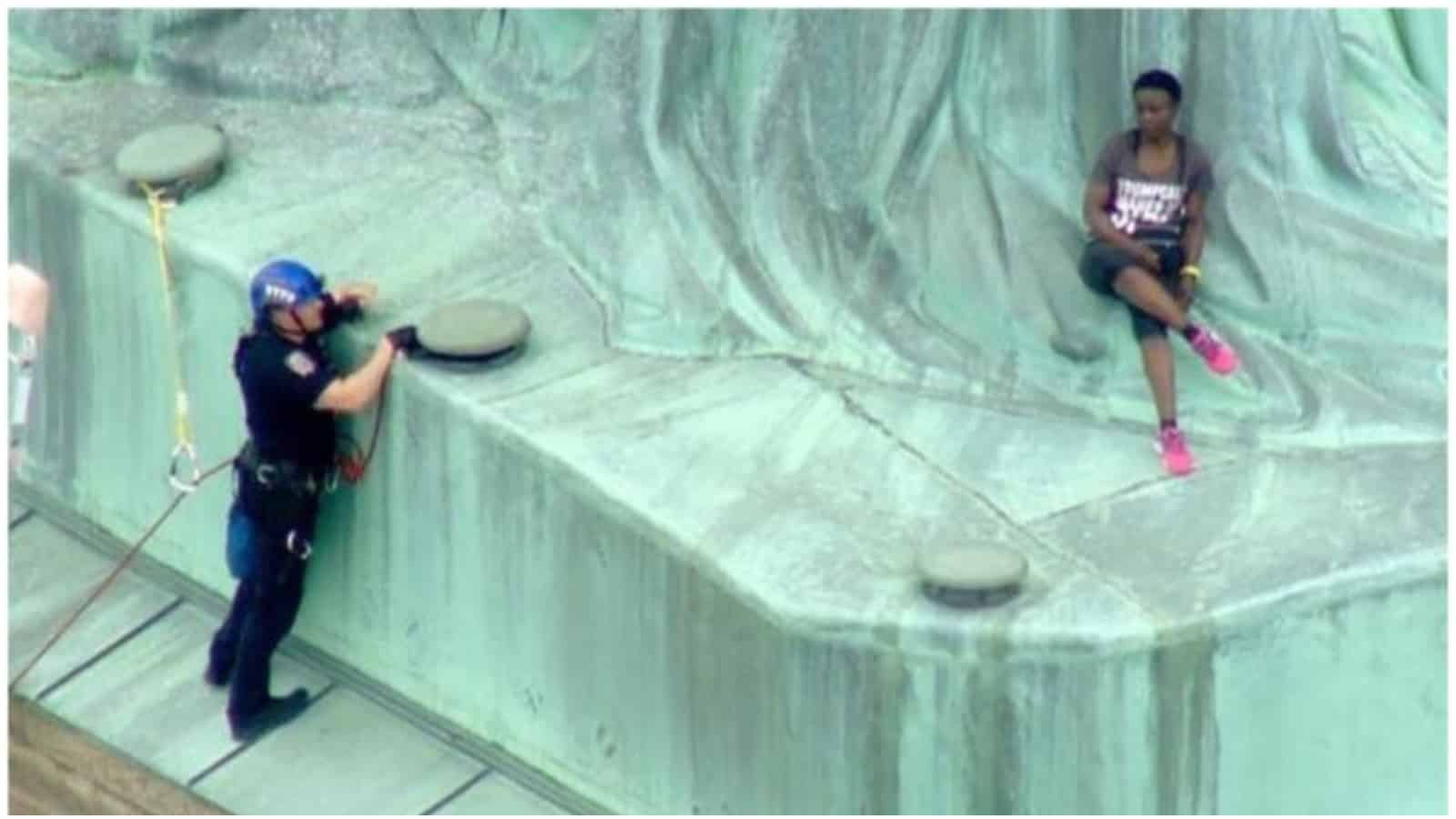 Black Activist Who Climbed Statue of Liberty Found Guilty