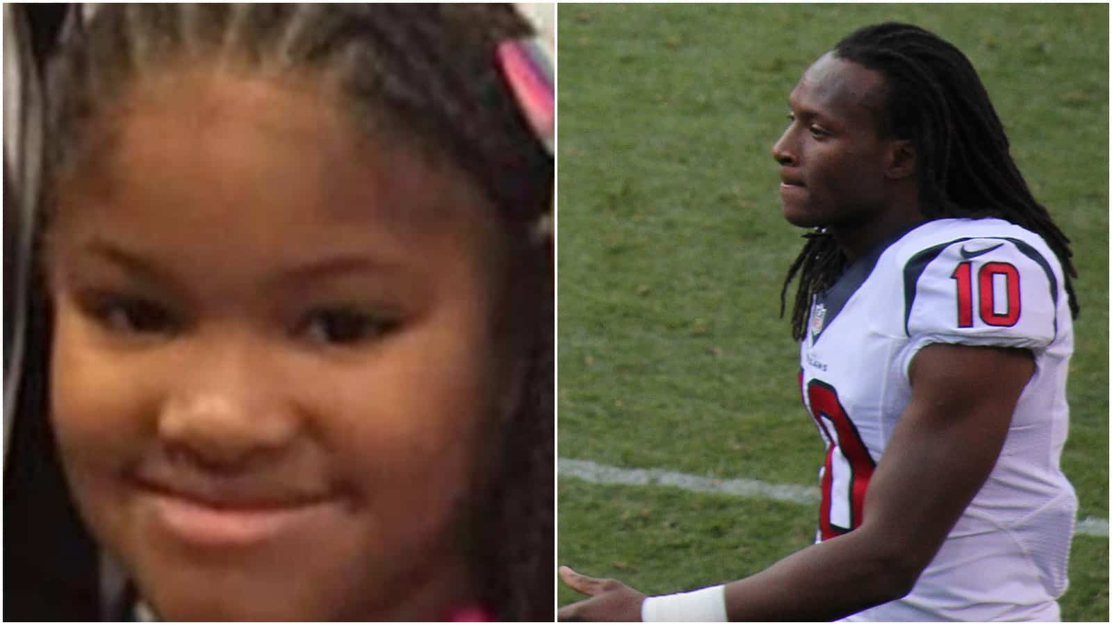 NFL's Deandre Hopkins Donating Playoff Check to Jazmine Barnes' Family