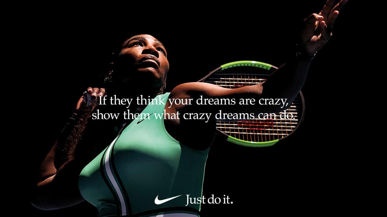 Raramente tela Eclipse solar  Serena Williams Encourages Women to 'Dream Crazier' in New Nike Ad