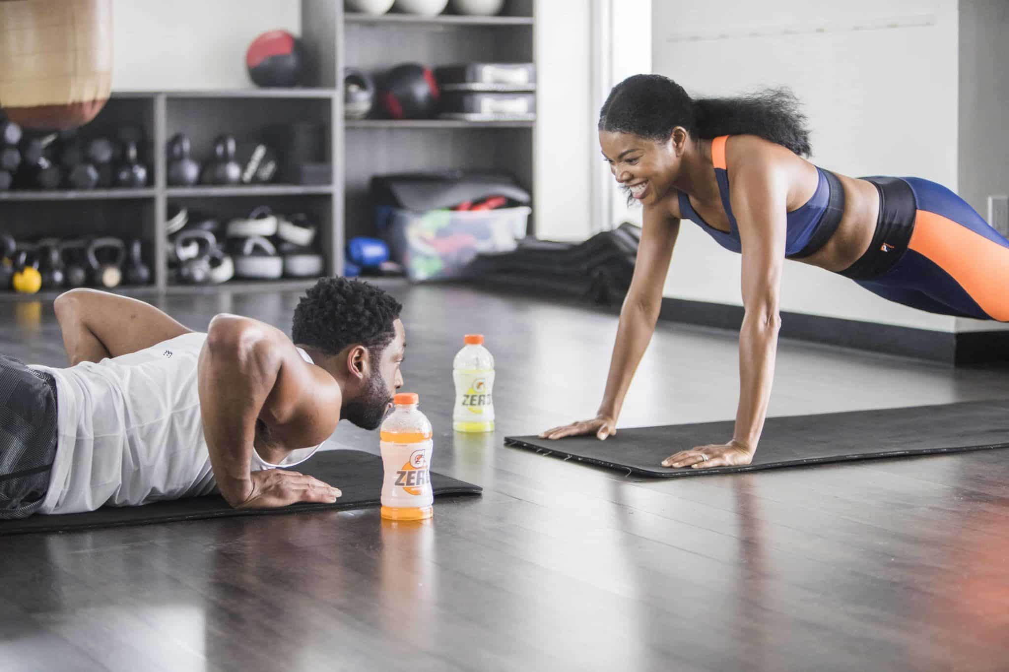 Gabrielle Union & Dwyane Wade Compete in New Gatorade Commercial