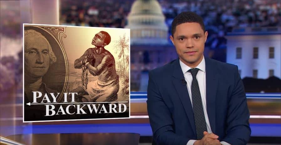 Trevor Noah Jokes About Sen. Elizabeth Warren's Position on Reparations